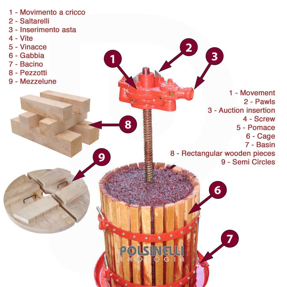 ø 30 ratchet wine press