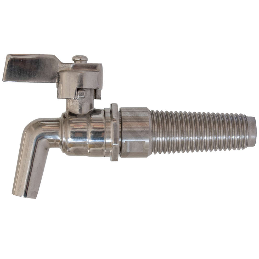 "1/2"" stainless steel spigot with Steel cone barrel bore"