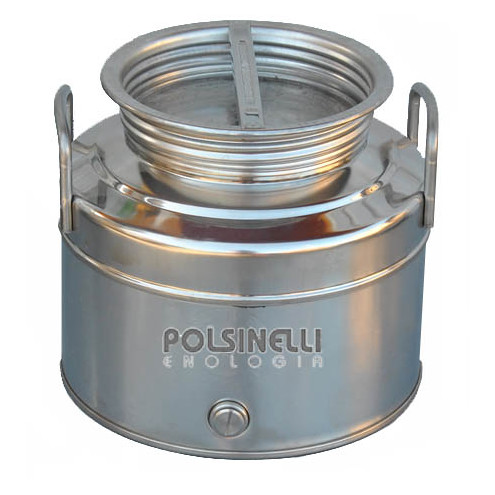 10 L stainless steel drum grafted bottom