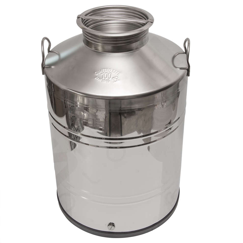 100 L stainless steel drum smooth bottom