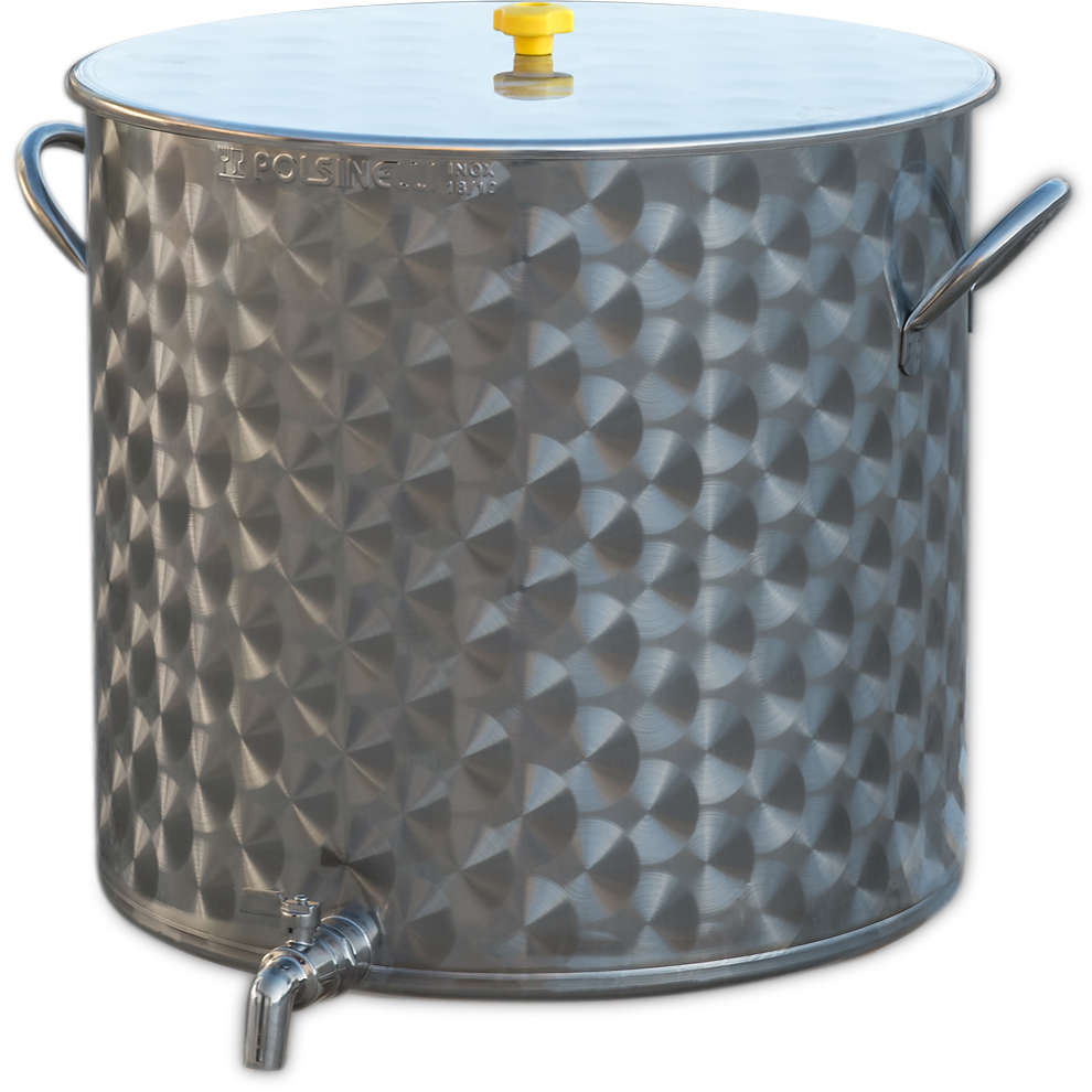 100 L  stainless steel pot with tap