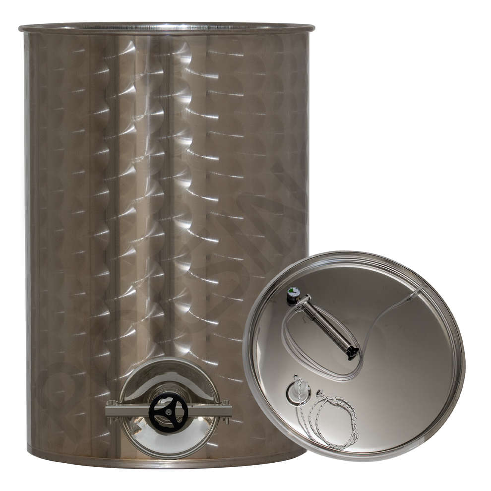 1000 L stainless steel wine tank with air floating lid with manhole