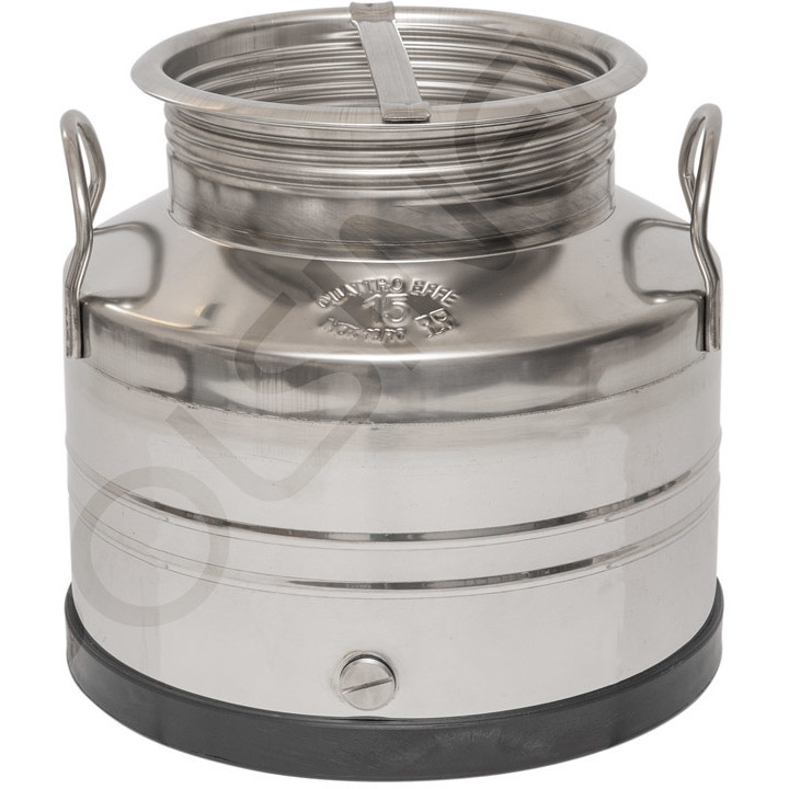 15 L stainless steel drum smooth bottom