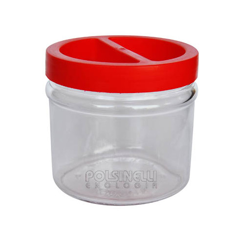 2.5 L glass jar with screw cap (6 pieces)