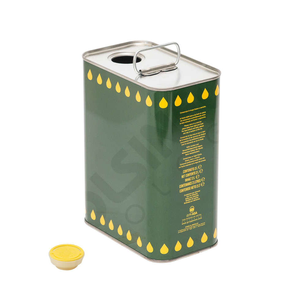 2 L olive oil tin can (16 pieces)