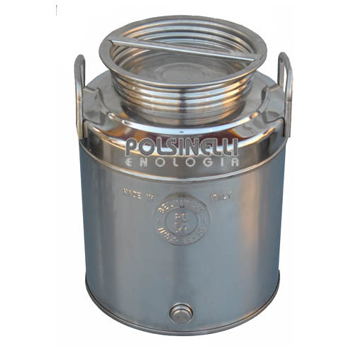 20 L stainless steel drum grafted bottom