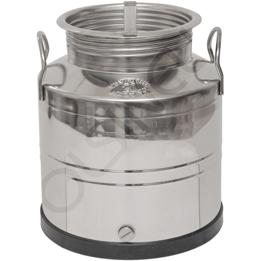 20 L stainless steel drum smooth bottom