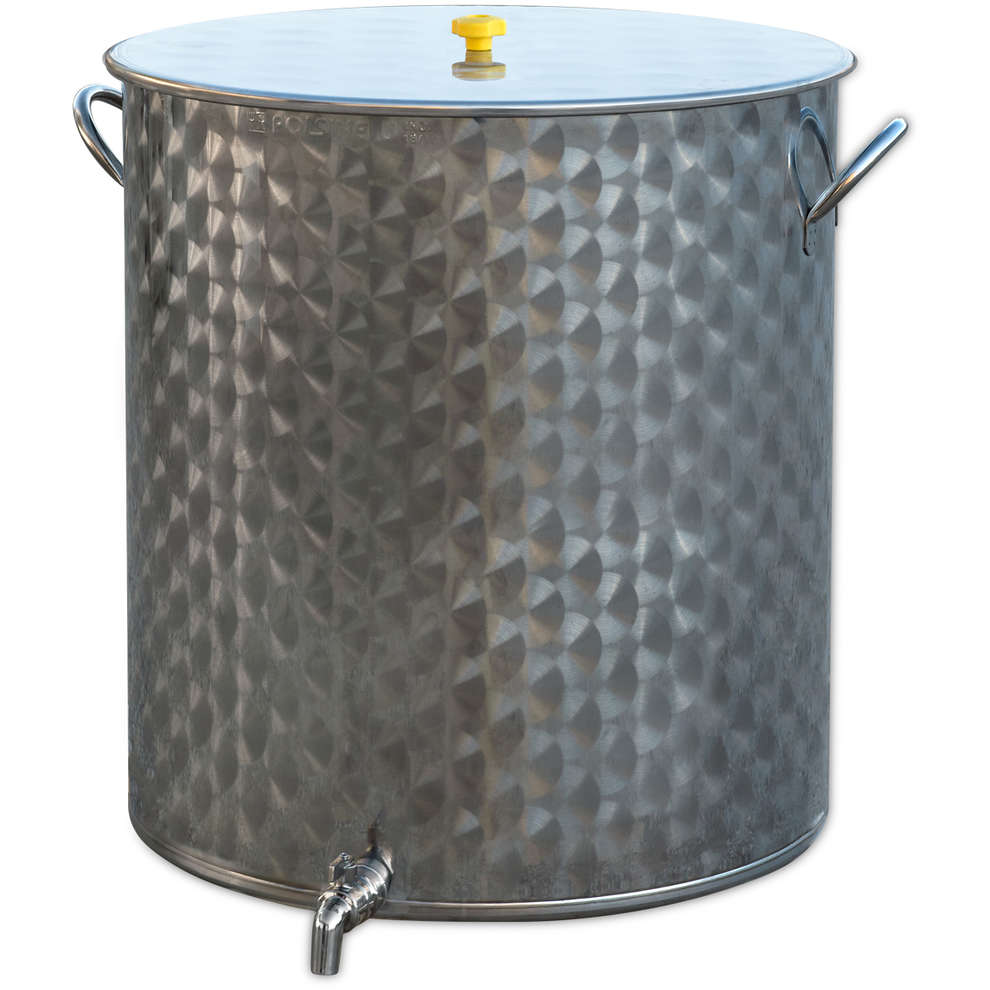 200 L stainless steel pot with tap