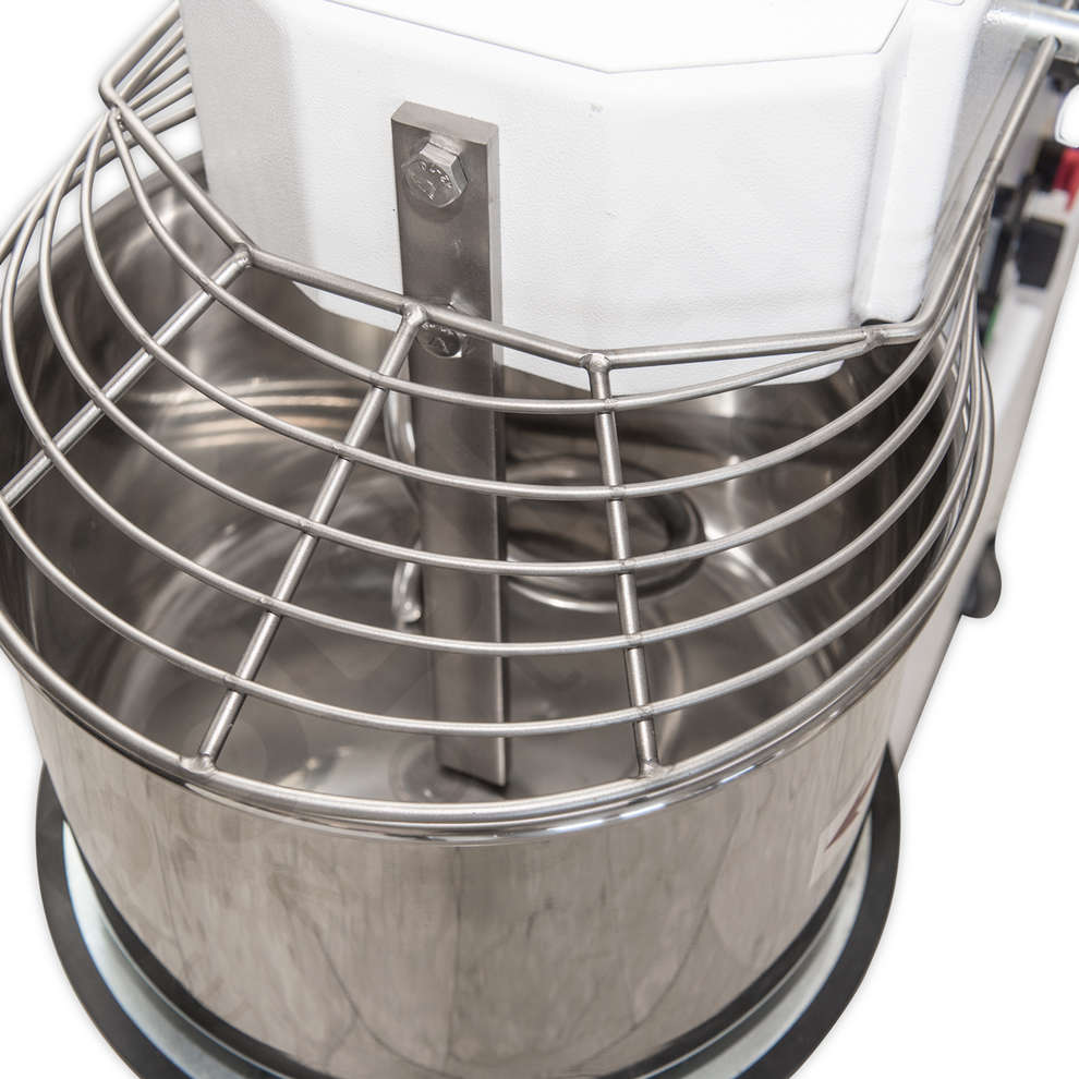 25 kg spiral kneading machine with removable bowl