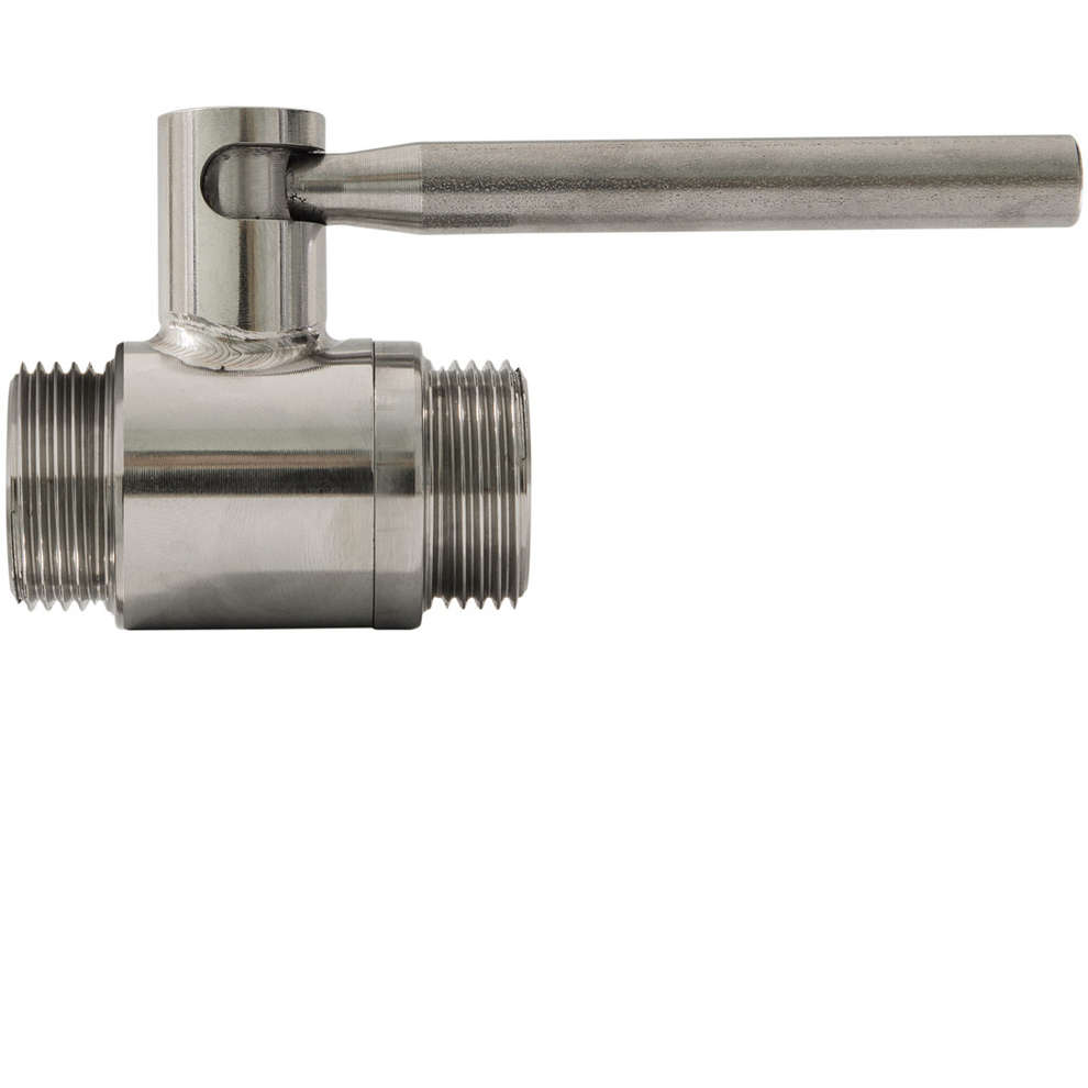"3/4"" x 3/4"" stainless steel ball valve M/M"