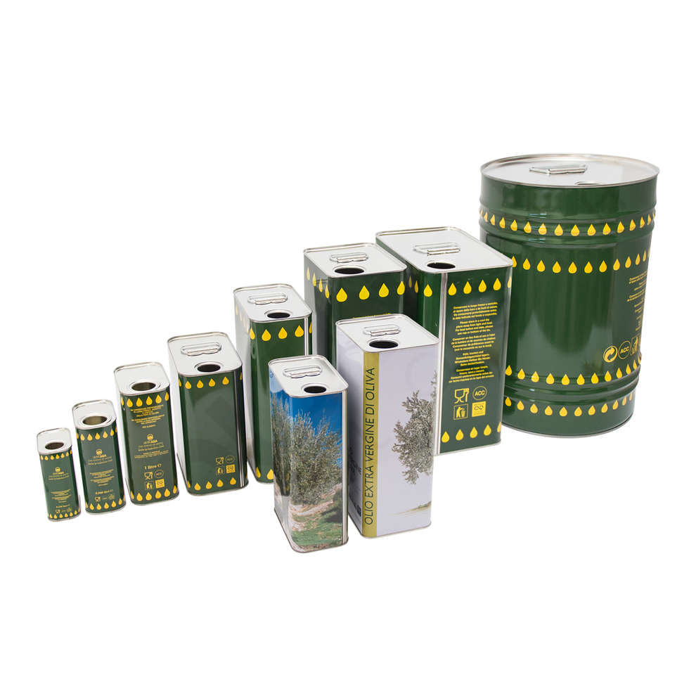 3 L olive oil tin can Albero (16 pcs)