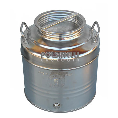 30 L stainless steel drum grafted bottom