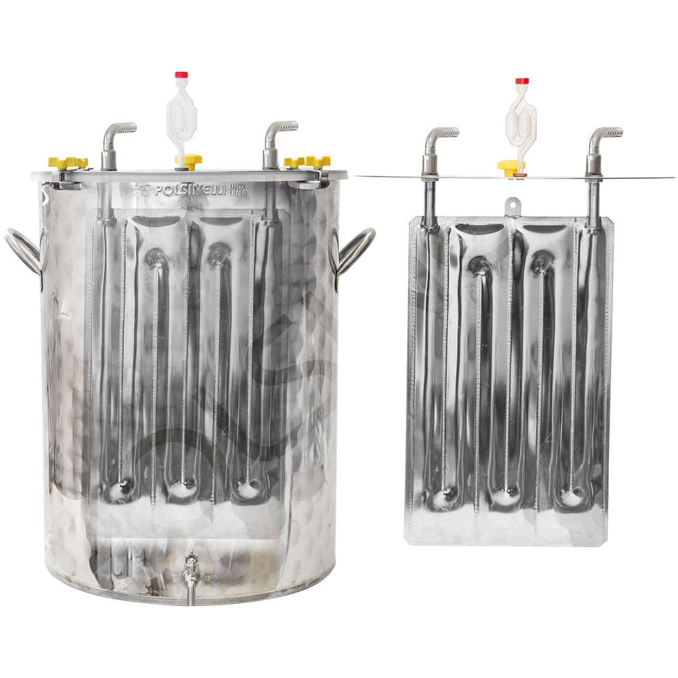 300 L stainless steel refrigerated beer fermenter with flat bottom