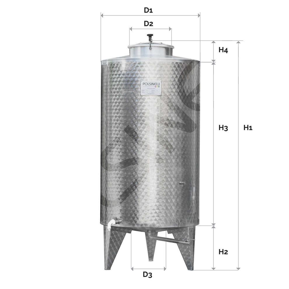 500 L Stainless steel storage tank