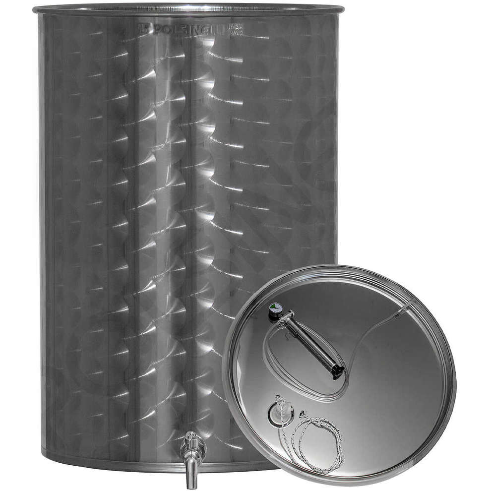 600 Lt. stainless steel wine tank with air floating lid