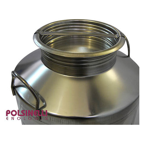 75 L stainless steel drum smooth bottom