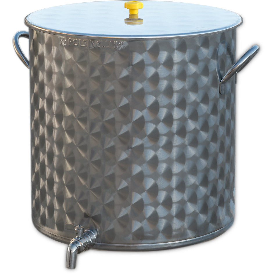 75 L stainless steel pot with tap