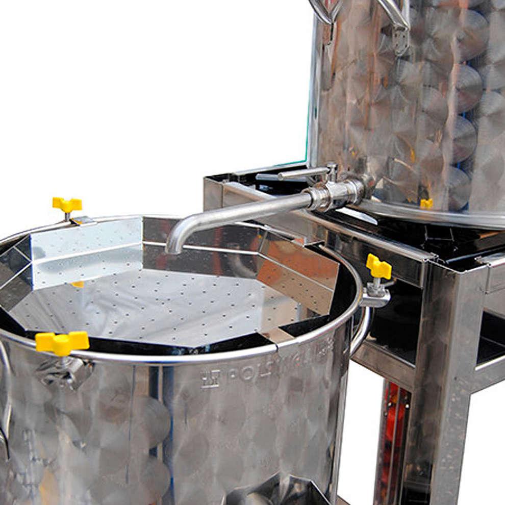 Alargamiento de acero inox para Sparge Easy 100