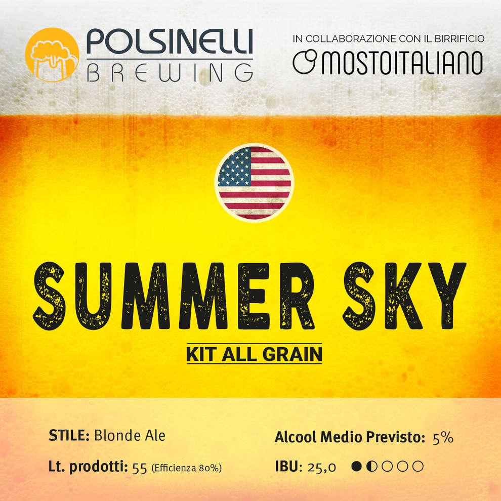 All grain Kit  Summer Sky for 55 lt - Blonde Ale