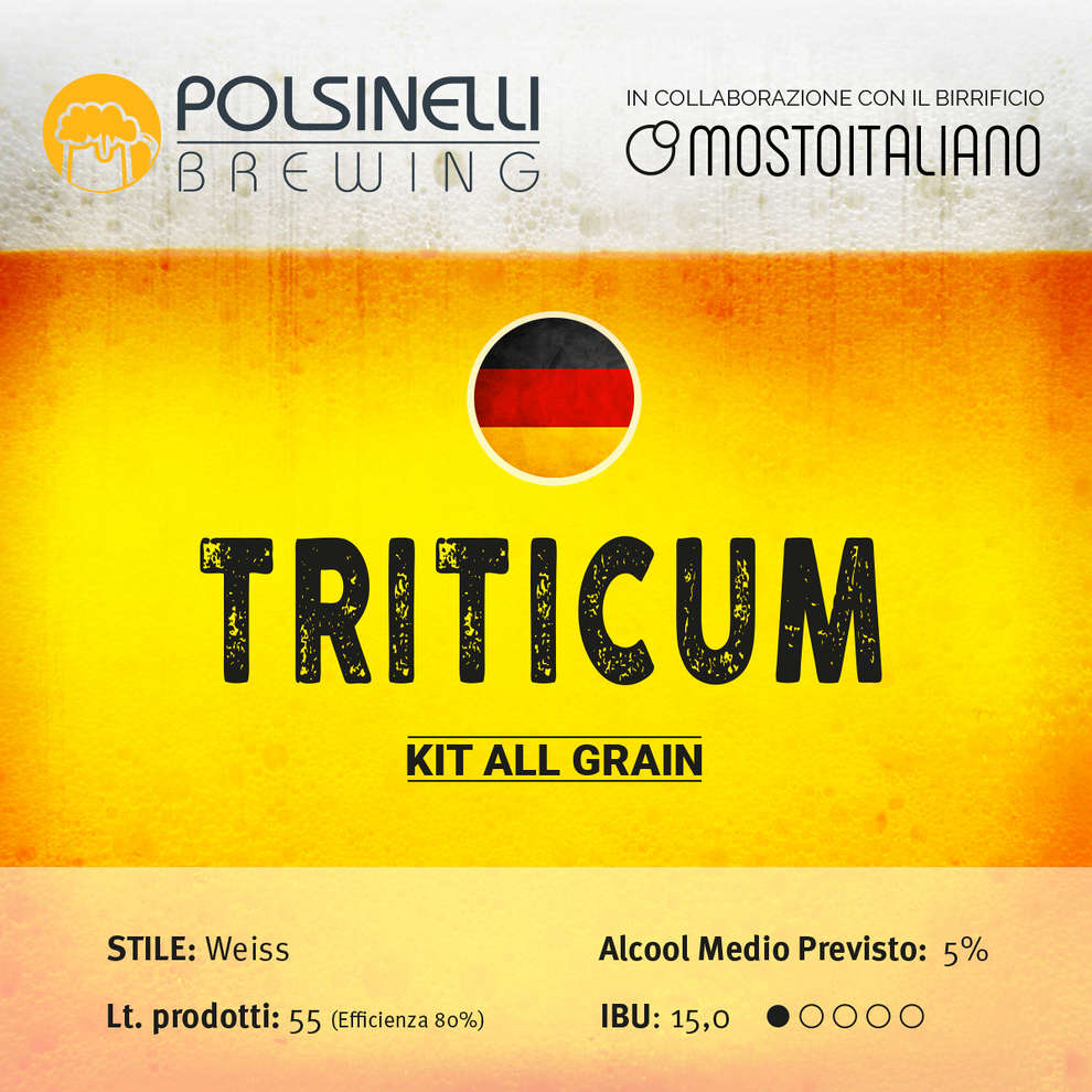 All grain kit Triticum for 55 L – Weiss