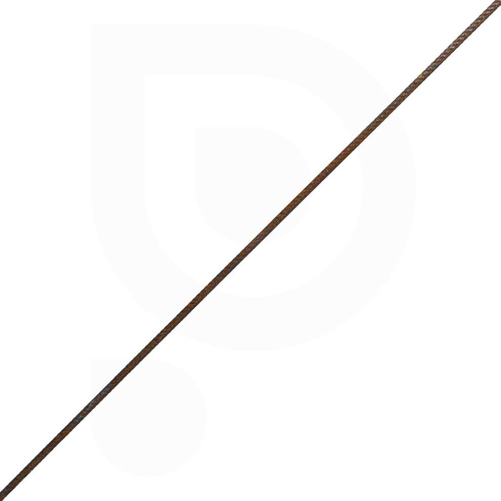 Black knurled rod - 1,2 mt (25 pz)