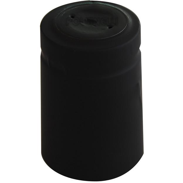 Black PVC capsule ⌀33 (100 pcs)