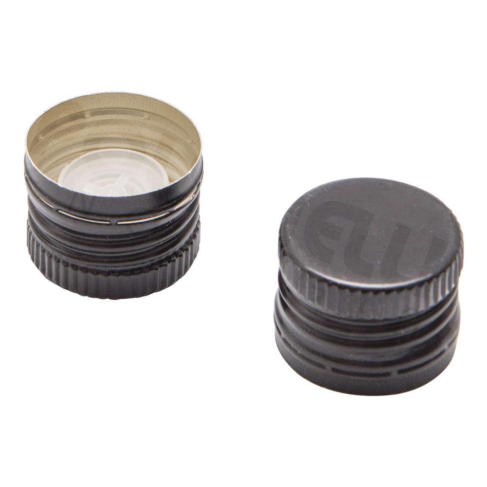 Black screw cap pre-threaded with drip catcher ⌀31.5 (100 pcs)