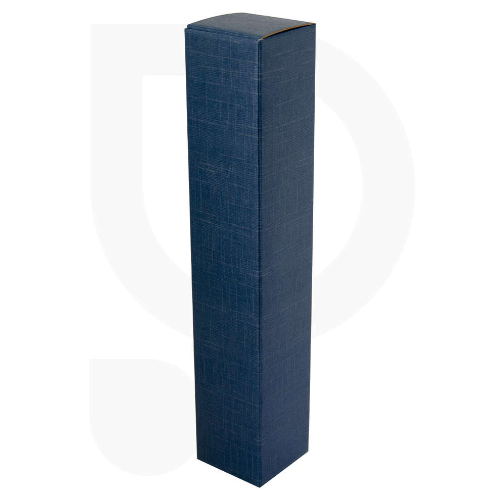 Blue carry wine box for 1 bottle (10 pieces)