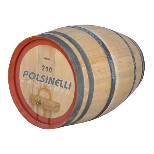 Botte castagno 200 l birra polsinelli enologia for Botte di legno arredamento
