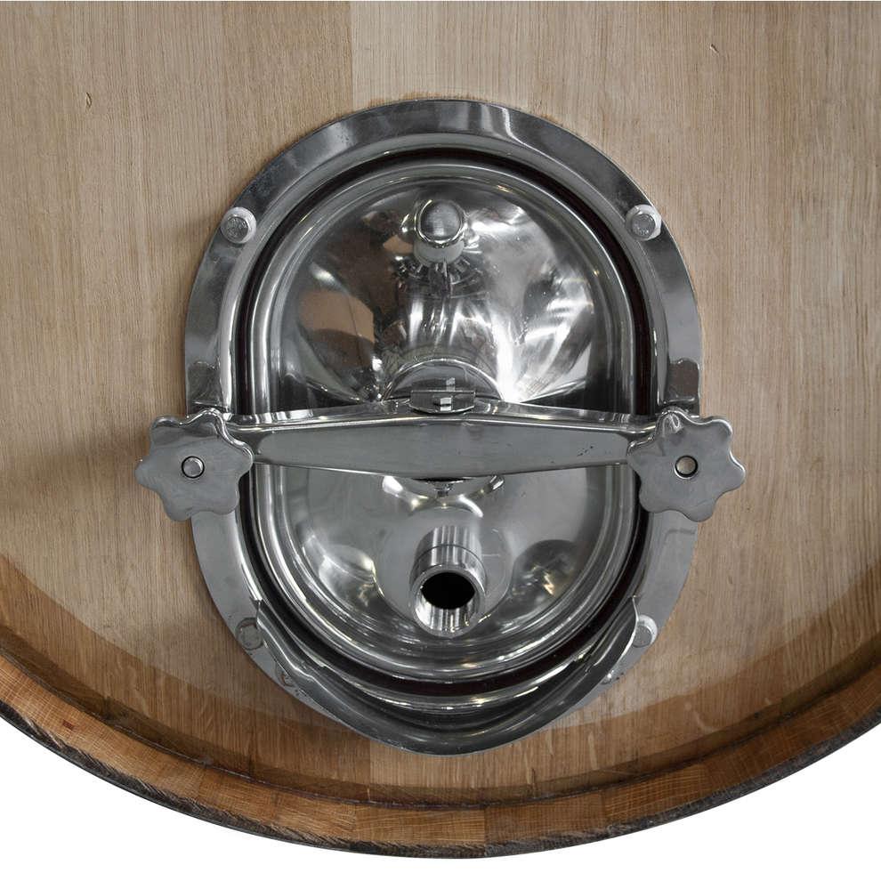 Botte in rovere 500 L rigenerata con portella inox