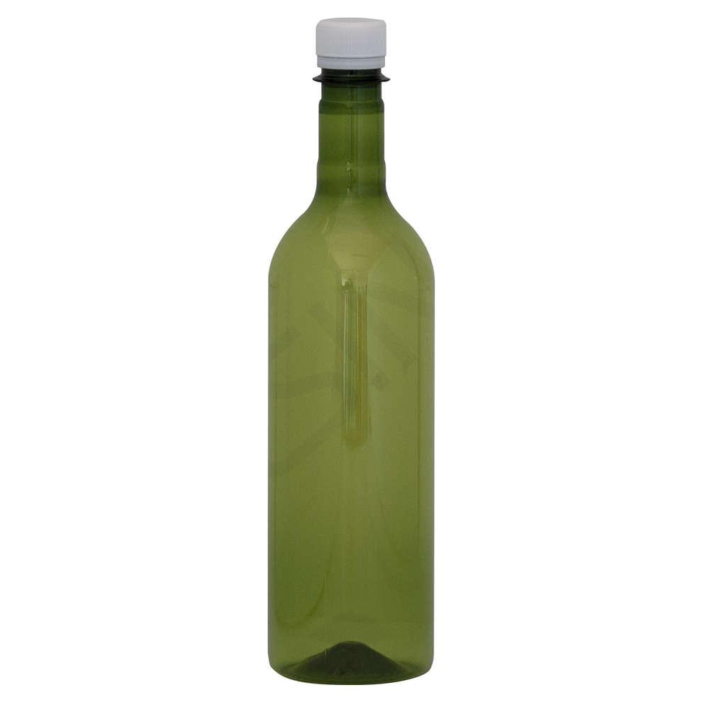 Bottiglia PET bordolese 750 mL verde con tappo (240 pz)