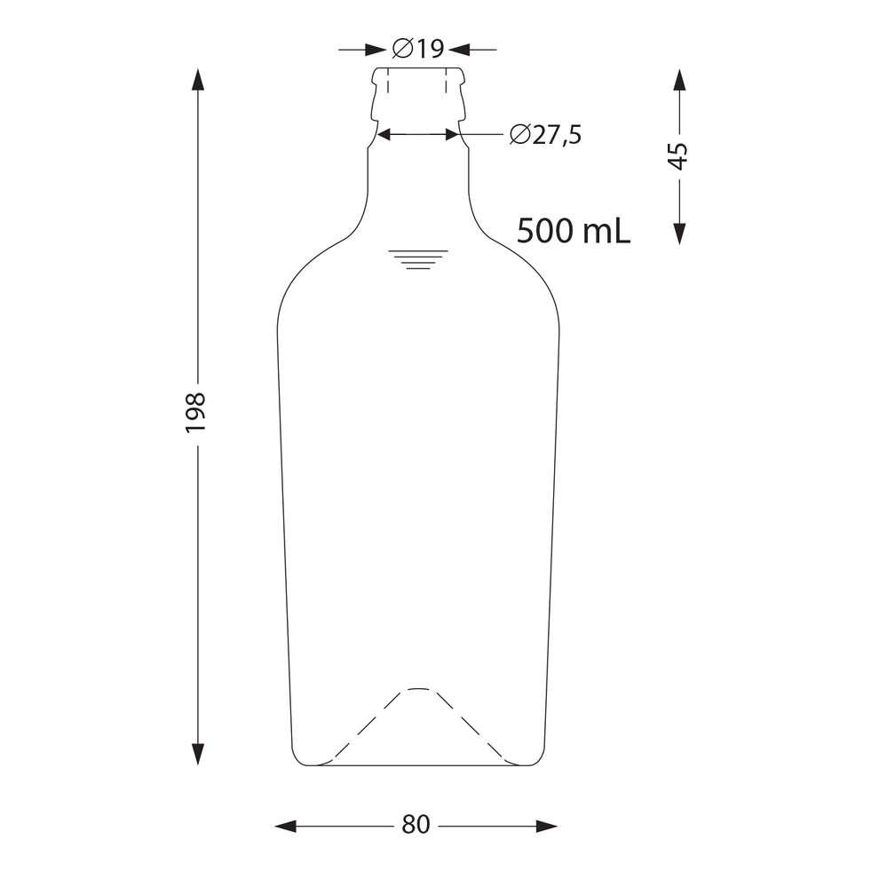 Bottiglia Reginolio 500 mL uvag con tappo antirabbocco (15 pz)
