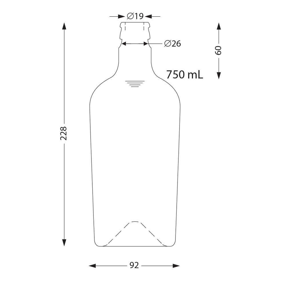 Bottle Reginolio 750 ml uvag with not refillable cap (11 pieces)