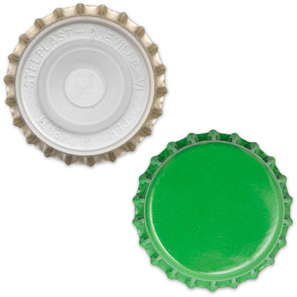 Bouchon couronne avec capuchon intérieur ⌀29 vert (200 pcs)