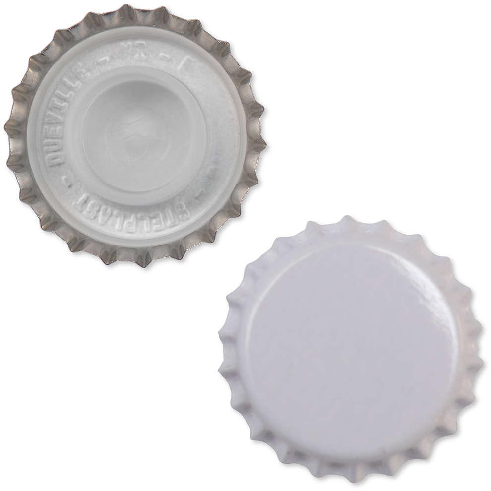 Bouchon couronne blanc avec Bidule ⌀29 (200 pcs)