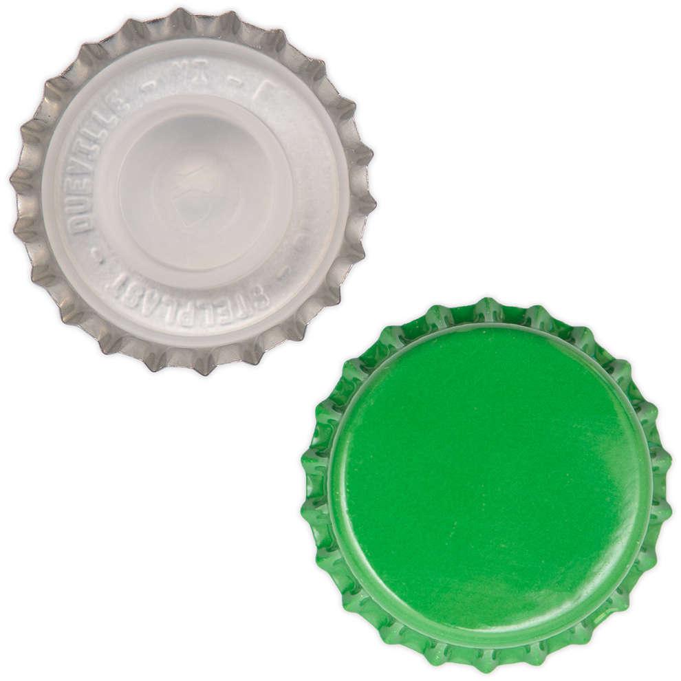 Bouchon couronne vert avec Bidule or ⌀29 (200 pcs)