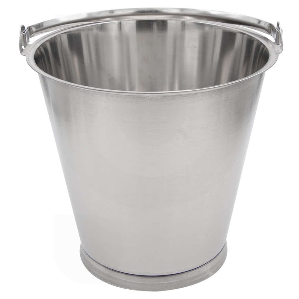 Bucket stainless steel 12 L
