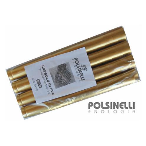 Cápsula de PVC dorada ⌀31 (100 pzas)