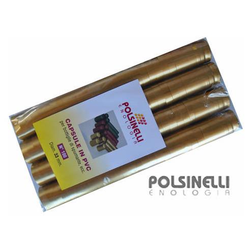 Cápsula de PVC dorada ⌀33 (100 pzas)
