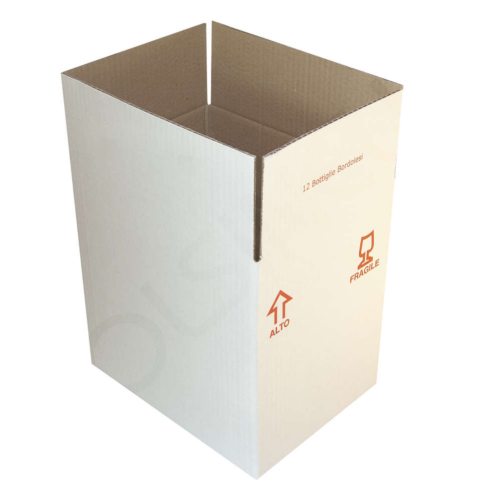 Caja para 12 botellas bordelesas de 750 mL (10 unid.)