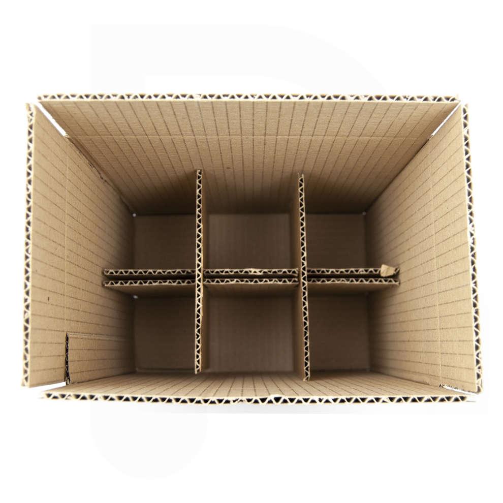 Caja para 6 botellas bordelesas de 750 mL (10 unid.)