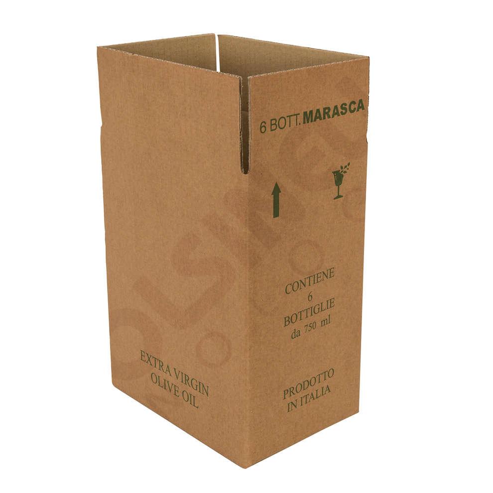 Caja para 6 botellas Marasca de 750 mL (10 unid.)
