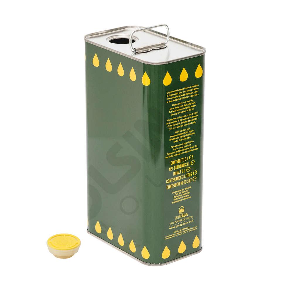 Canette pour huile 3 L (16 pcs)