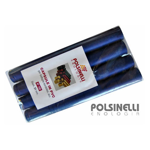 Capsula in PVC blu ⌀31 (100 pz)