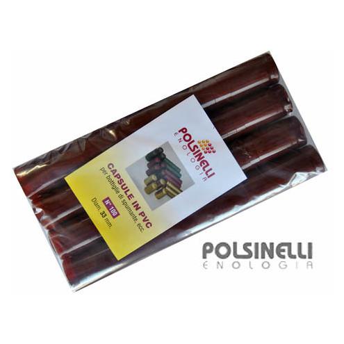 Capsula in PVC bordeaux ⌀33 (100 pz)