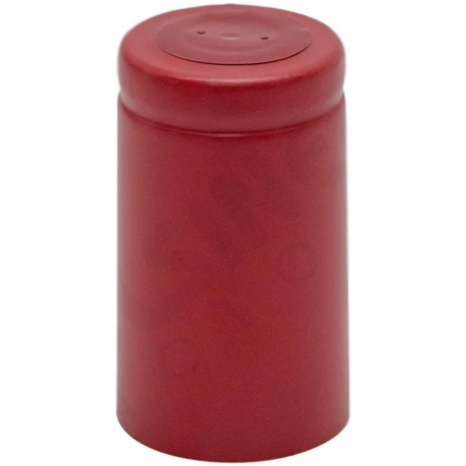 Capsule en PVC rouge ⌀33 (100 pcs)