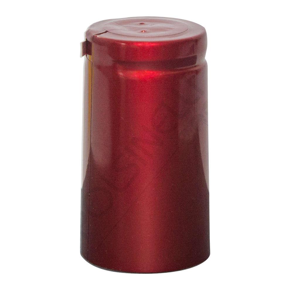 Capsule en PVC rouge métallique ⌀31 (100 pcs)