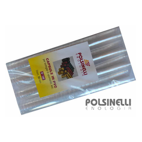 Capsule en PVC transparente ⌀33 (100 pcs)