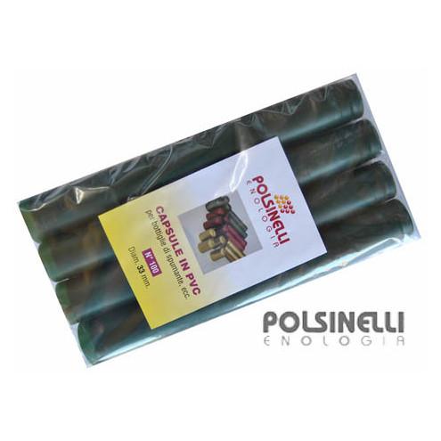 Capsule en PVC vert pin ⌀33 (100 pcs)