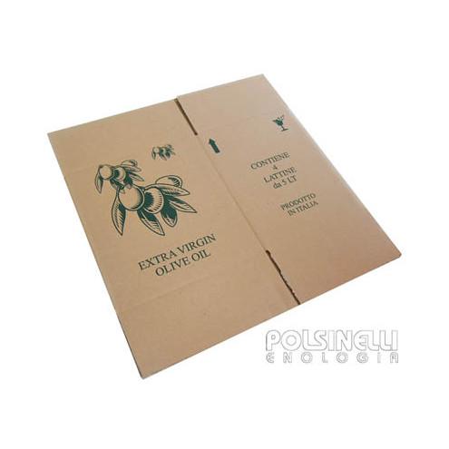 Carton pour 4 canettes d'huile 5 L (10 pcs)